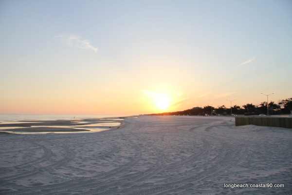 Sunset over Long Beach Mississippi. Great view from beach!