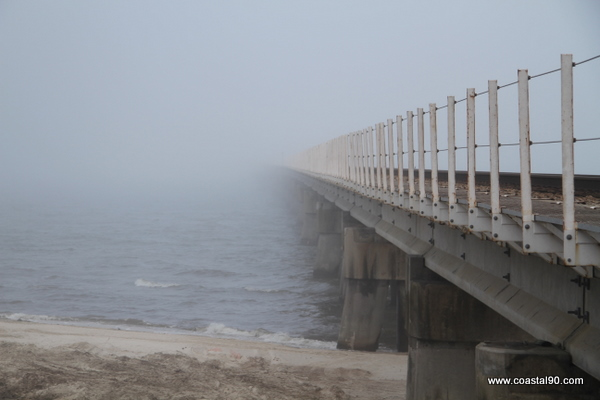 Mississippi Gulf Coast Sees Fog Rolling In Across Bay St. louis Shores