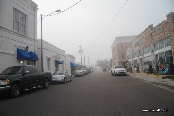 Main Street In Bay Saint Louis Has Fog Rolling In On Many Afternoons