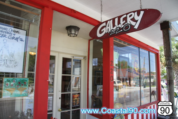 Visit the art Gallery at 220 Main Street Old Town Bay St. Louis
