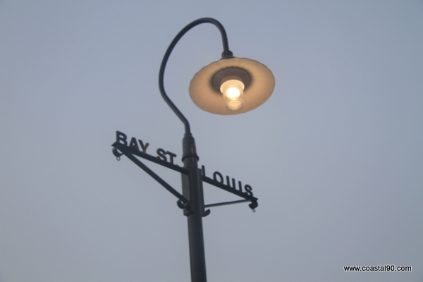 Bay St. Louis Street Light Mellowing Out In The Fog