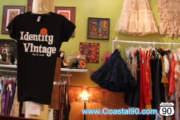 Identity Vintage clothing, handbags, purses, dresses and designer vintage wear in Old Town Bay St. Louis Mississippi