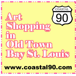 Art Shopping in Old Town Bay St Louis Mississippi