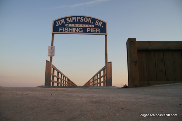 Jim Simpson Sr Fishing Pier in Long Beach, MS