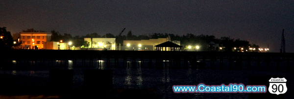 Old Town Bay St Louis as seen before sunrise on the Gulf of Mexico