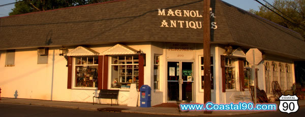Antique Shopping store in Old Town Bay St Louis, Mississippi, Magnolia Antiques