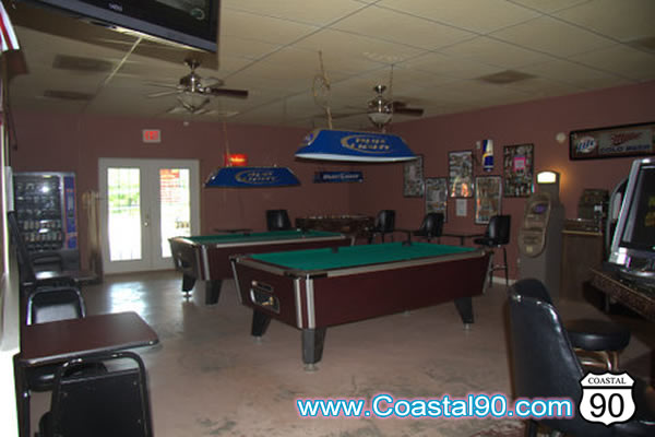 Pool Tables at C & R Bar and Grill on Coleman Avenue in Waveland Mississippi