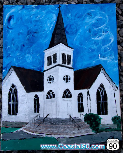 Methodist Church Bay St Louis Painting