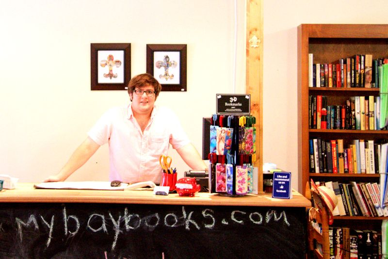 Jeremy Burke with Bay Books in Old Town Bay St. Louis