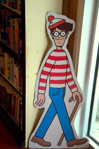 Jeremy Burker of Bay Books has Waldo hiding in Old Town Bay St. Louis
