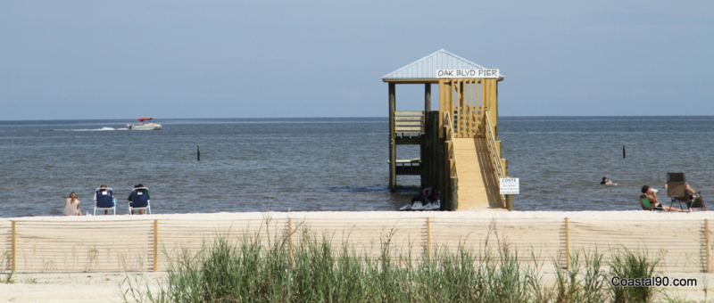 Surf fishing is very popular to the west of this pier to Buccaneer State Park